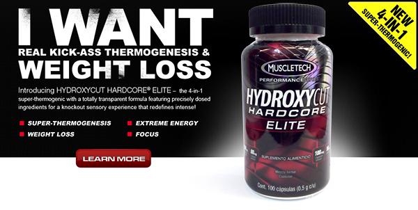 /></p><br /><p>Con<strong>Hydroxycut Hardcore Elite</strong>nuestro cuerpo cambia su metabolismo y estimula la vía de la obtención de la energía a partir de las grasas reduciendo los depósitos de grasa acumulados, principalmente en el abdomen y los gúteos. Gracias a la combinación de sus ingredientes quemaremos más calorías durante el día e iremos reduciendo el porcentaje de grasa de nuestro cuerpo y aumentando la disponibilidad de nuestra energía para realizar nuestros entrenamientos.</p><br /><p>Por otro lado,<strong>Hydroxycut Hardcore Elite</strong>reducirá nuestro apetito, de forma que comeremos menos alimentos durante el día y evitaremos que las calorías se acumulen en forma de grasa.</p><br /><p><strong>Hydroxycut Hardcore Elite</strong>es uno de los quemadores de grasa más potentes que podemos encontrar en el mercado con el que reduciremos nuestro peso de forma considerable en muy poco tiempo.</p><br /><p></p><br /><h3>Hydroxycut Hardcore Elite consiste en:</h3><br /><p><strong>- Cafeína anhidra:</strong>Es el componente más utilizado para la quema de grasas desde hace muchísimos años. Su poder energizante está más que comprobado y su efectividad como substancia termogénica también, aumenta el metabolismo y reduce el agotamiento muscular durante el entreno.</p><br /><p><strong>- L-Teanina:</strong>Es un aminoácido comúnmente encontrado en el té. Una de sus propiedades es favorecer el sistema inmunitario, además también promueve la producción de ácido gamma-aminobutírico y da una sensación de relajación.</p><br /><p><strong>- Theobroma cacao:</strong>Es un alcaloide de la familia de las metilxantinas. Como todos los compuestos de su familia sus efectos son una estimulación del sistema nervioso central, broncodilatación y diversos efectos cardiovasculares.</p><br /><p><strong>- Capsicum annuum:</strong>Es una substancia pionera utilizada como termogénico ayuda a la beta oxidación y estudios han evidenciado que su abstención reduce el estrés oxidativo al atleta