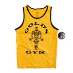 Camiseta Gold Gym Atletica Amarilla