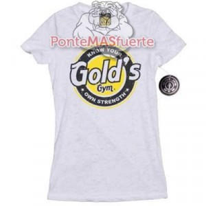 Camiseta Gold Gym Ladies Blanca