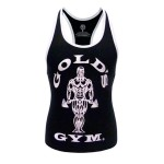 GGLVST-021 Camiseta de tirantes chica Gold Gym Black