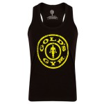 GGLVST-041 Camiseta Gold Gym chica Stronger than the boys Negra