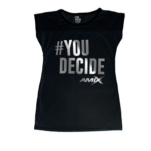 Camiseta Amix chica #You Decide NEGRA