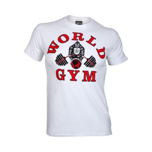 Camiseta Manga Corta World Gym Classic Blanca