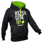 NEVER GIVE UP - HOODIE 033/GRAPHITE - Sudadera Trec Nutrition Never Give Up