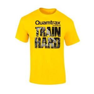 Camiseta Quamtrax Train Hard Amarillo