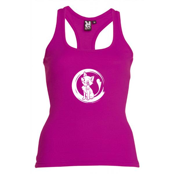 Camiseta PMF Mujer (Tirantes) Fucsia PonteMASfuerte