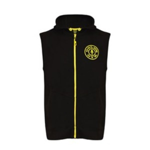 Gold Gym Sleeveless Hoddie - Black