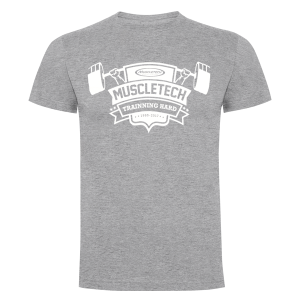 Camiseta Muscletech Trainning Hard Gris