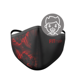 Mascarilla FITmask PRO Red Fractal - Niño